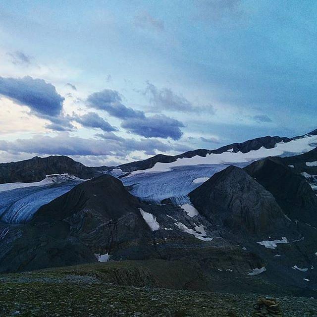 Tungelgletscher as seen from the Niesehorn (2750 M.ü.M) just before sunset.
